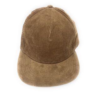 4/$25 Gents Men's Brown Corduroy Solid Hat NWT